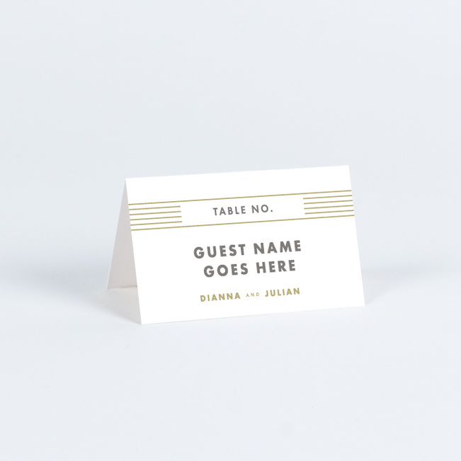 Diamond Chic Place Cards - Beige