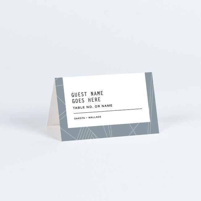 Label It Place Cards - Blue