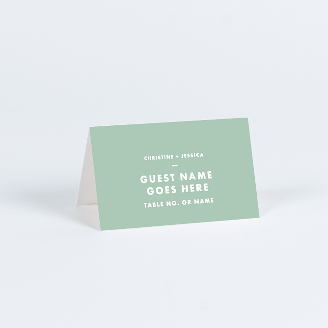 Puzzle Pieces Place Cards - Green