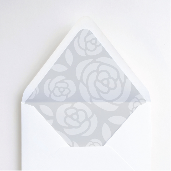 Coming Up Roses Envelope Liners - Gray