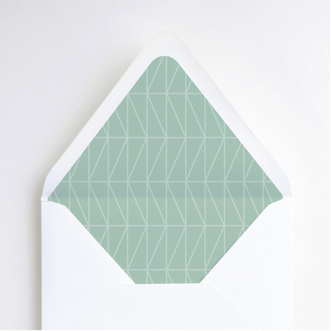 Crossing Paths Envelope Liners - Green
