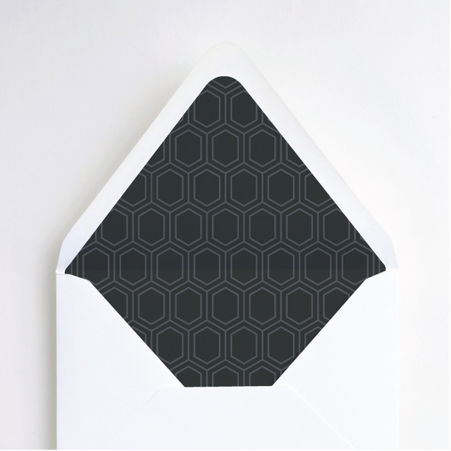 Hexagon Bliss Envelope Liners - Gray