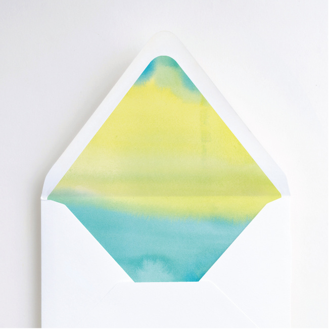 Infused Watercolors Envelope Liners - Green