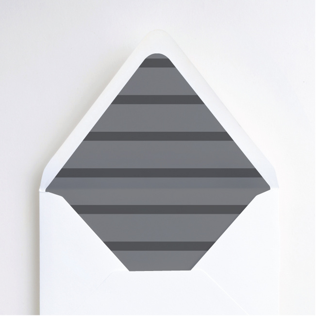 Stripe It Envelope Liners - Gray