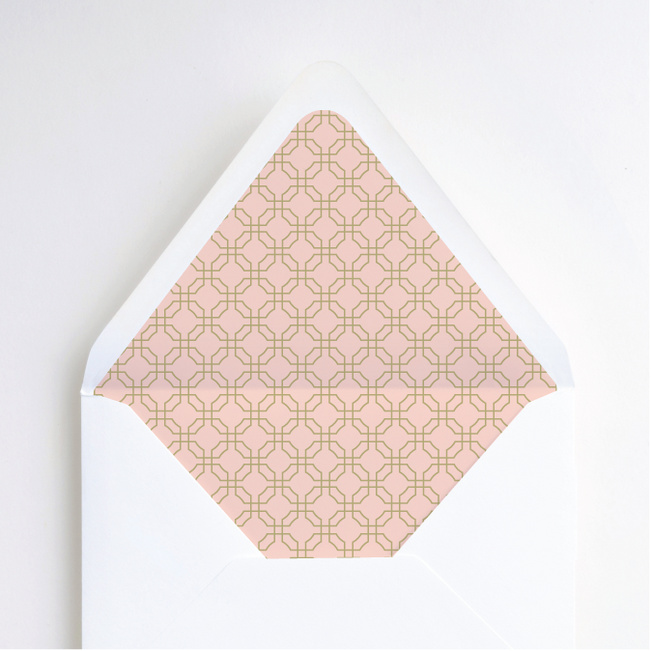 Tomorrow's Crest Envelope Liners - Pink