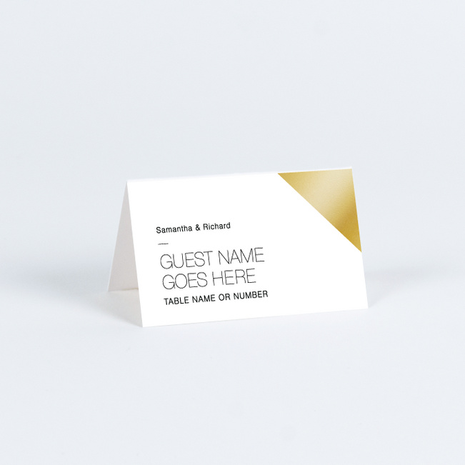 Wedding Corners Place Cards - White
