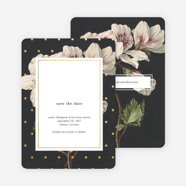 Floral Bliss Save The Dates - Gray