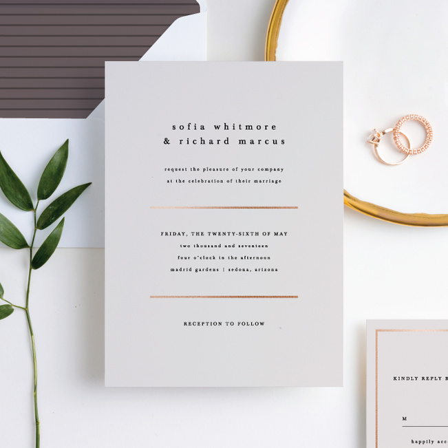 Less is More Wedding Invitations - Beige
