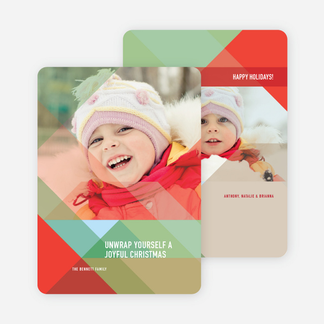 Colorful Prisms Holiday Cards - Red