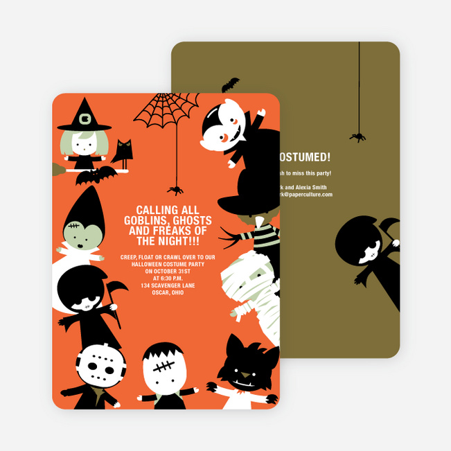 halloween party invitations and cards paper culture