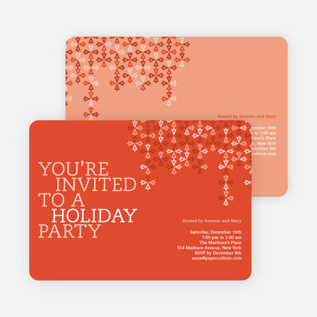 Modern Pattern Holiday Party Invitations  Paper Culture