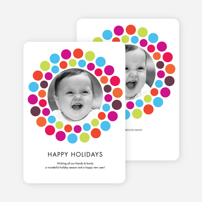 Holiday Dots Photo Cards - Multi
