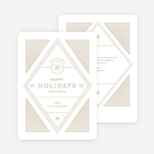 Artisanal Lines Holiday Cards - Beige