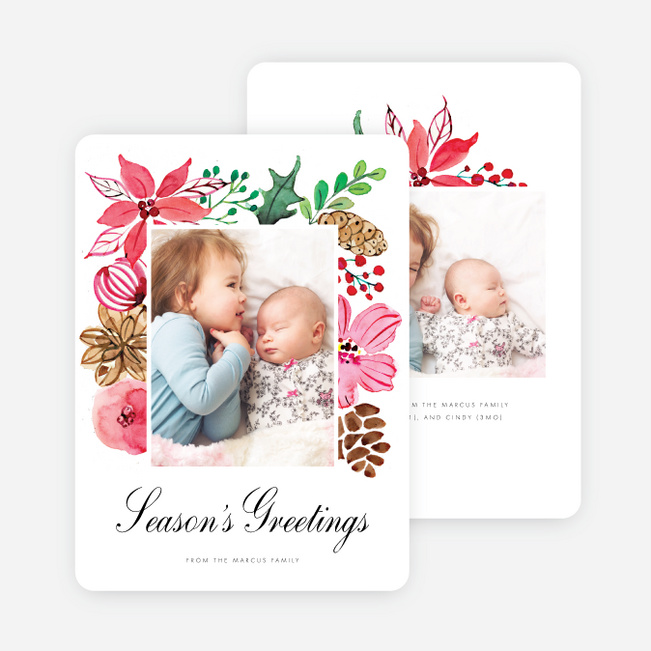 Blooming Frame Holiday Cards