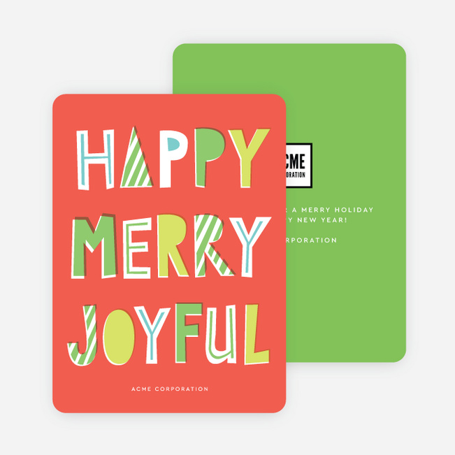 Casual Wishes Company Holiday Cards - Red