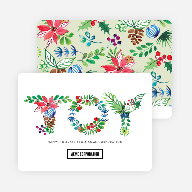 Floral Joy Holiday Cards - Multi