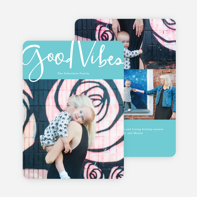 Good Vibes Holiday Cards - Green