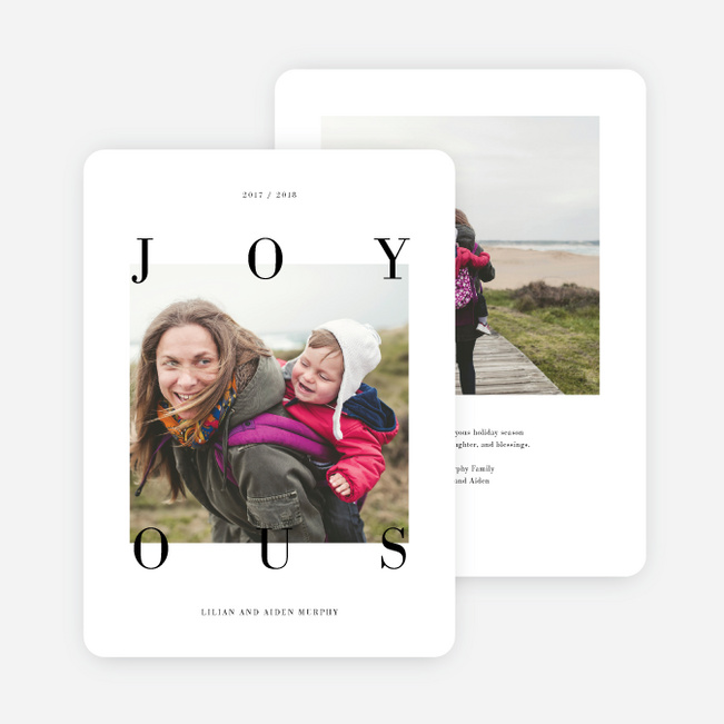 Joy All Around Holiday Cards - Black