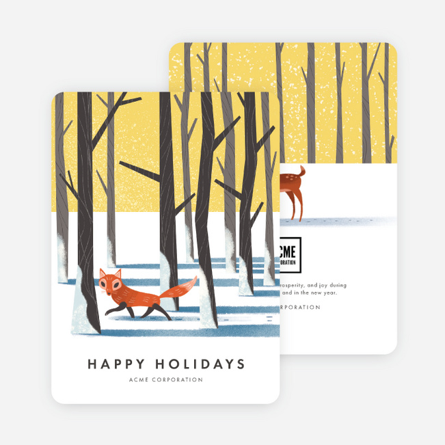 Winter Animals Corporate Holiday Cards - Multi