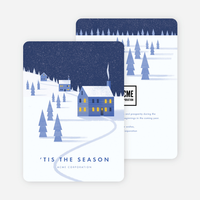 Winter Greetings Company Holiday Cards - Blue