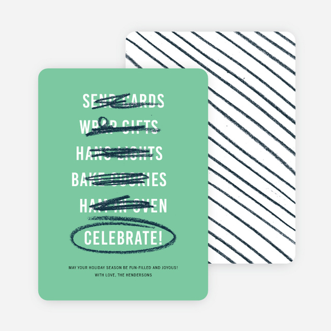 Best Checklist Holiday Cards - Green