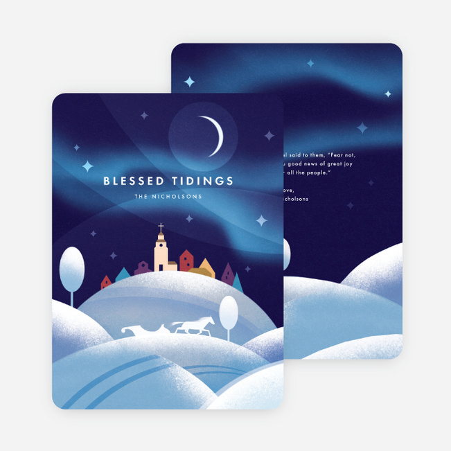 Blessed Life Christmas Cards - Blue