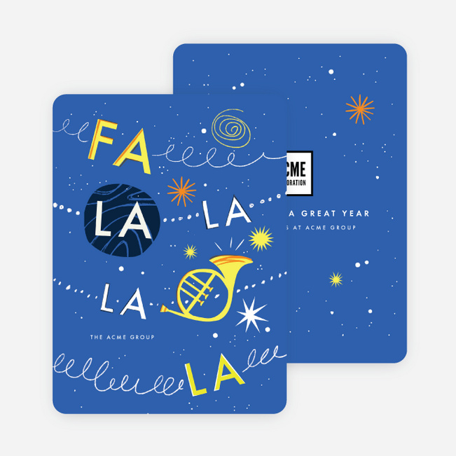 Cheerful Song Company Holiday Cards - Blue