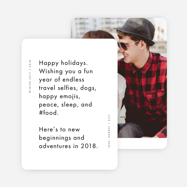Deep Thoughts Holiday Cards - Black