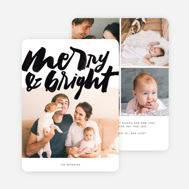 Merry Times Holiday Cards - Black