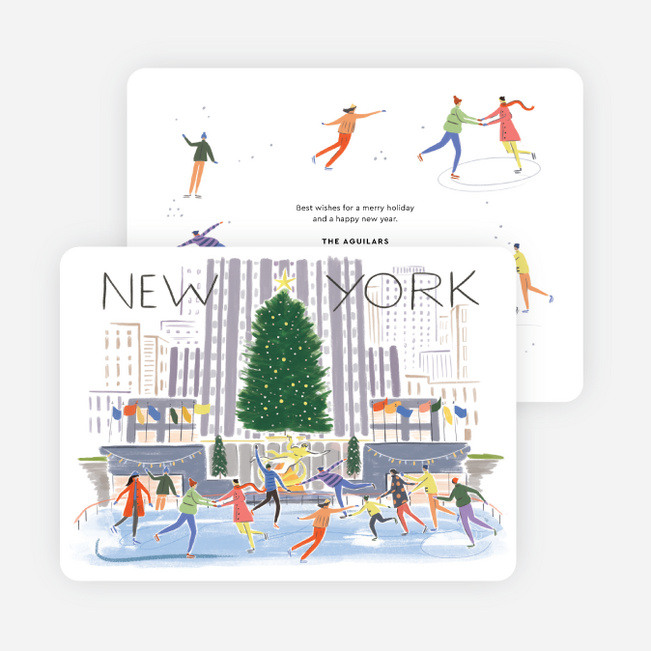 New York Scene Holiday Cards - Multi