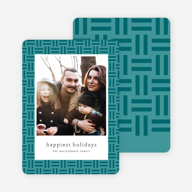 Pattern Frame Holiday Cards - Blue