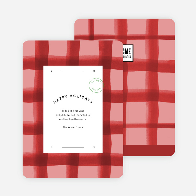 Plaid Perfection Holiday Cards - Red