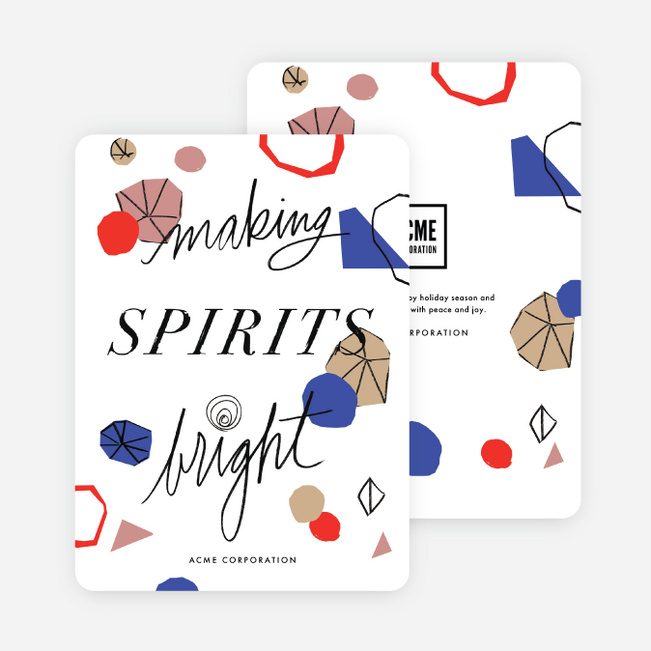 Retro Feel Corporate Holiday Cards - Multi