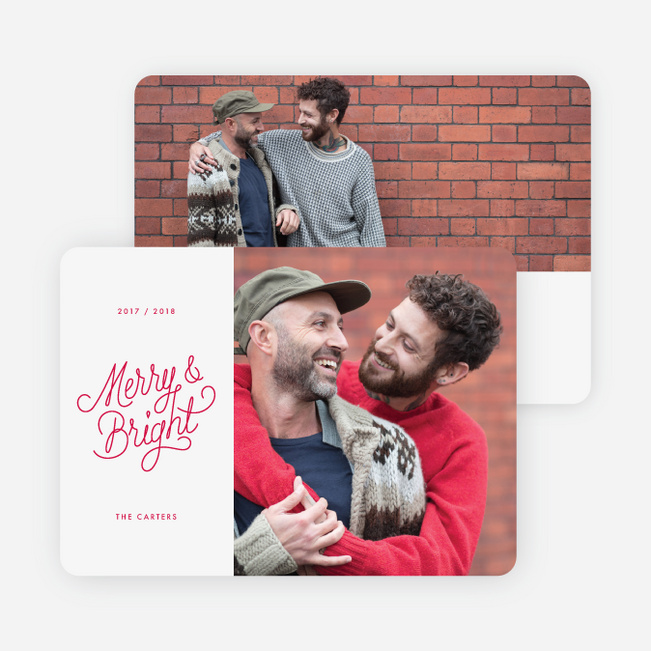 Split Frame Holiday Cards - Red