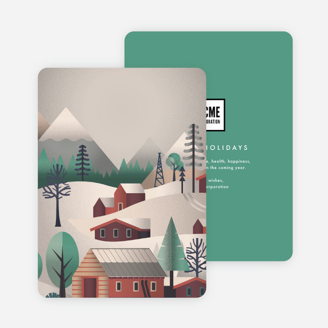 Wintertime Corporate Holiday Cards - Multi