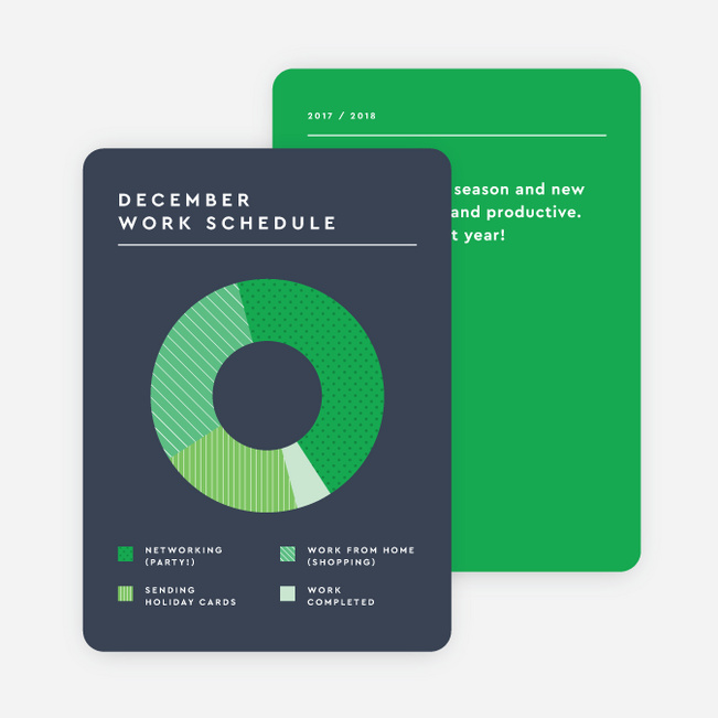 Productivity Chart Corporate Holiday Cards - Blue