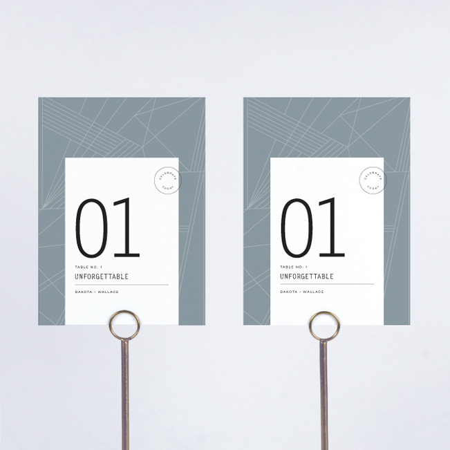 Label It Wedding Table Cards - Blue