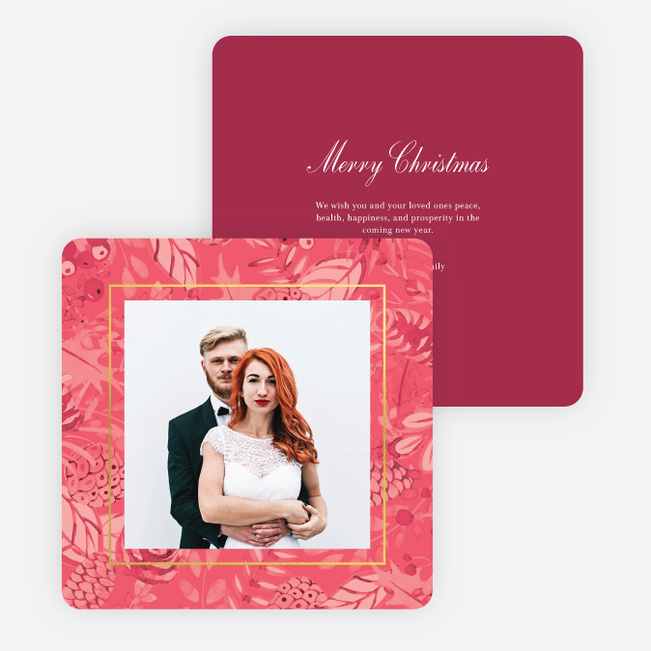 Festive Tone Holiday Cards - Pink