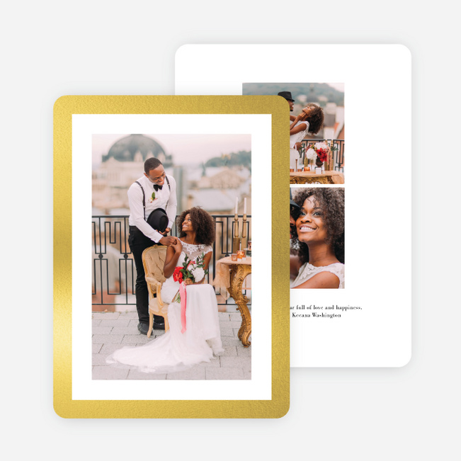 Foil Fabulous Holiday Cards - Yellow