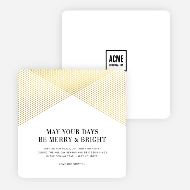 Intersecting Wishes Holiday Cards - White