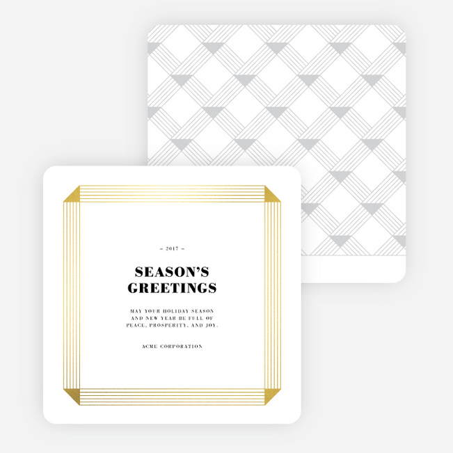 Luxe Greetings Corporate Holiday Cards - White