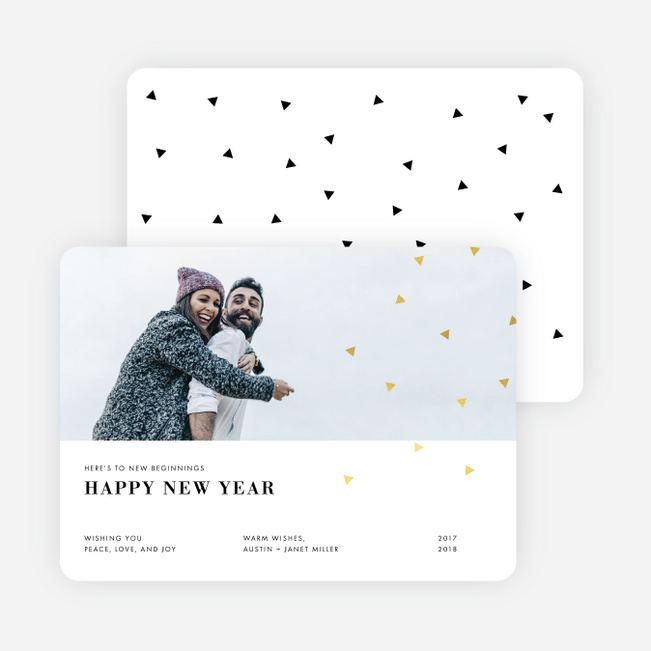 Editorial Style Holiday Cards - Yellow