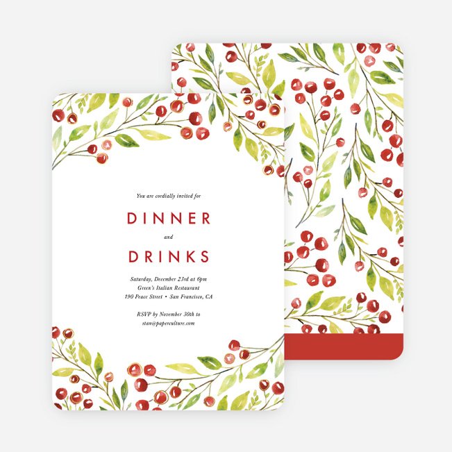Berry Surroundings Holiday Invitations - Multi