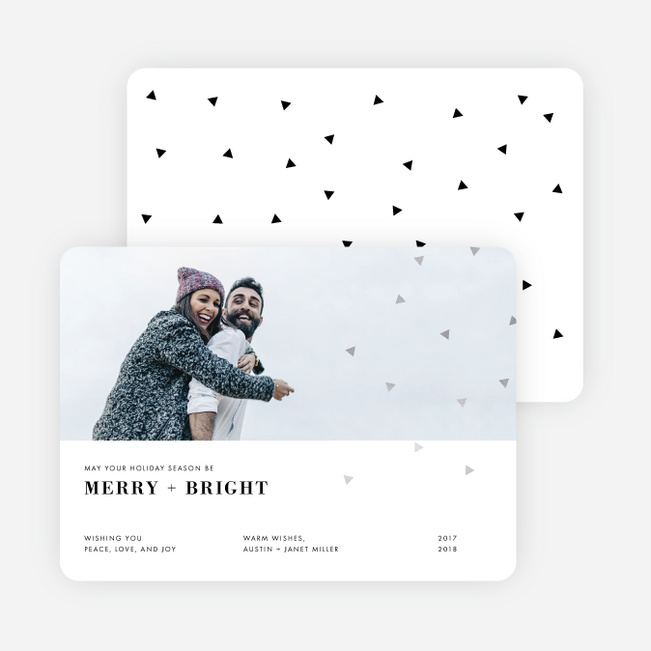 Editorial Style Holiday Cards - Gray