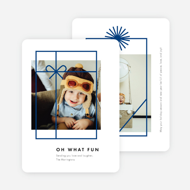 Gift Frames Holiday Cards - Blue