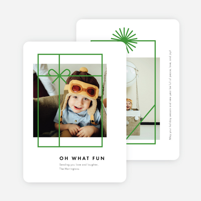 Gift Frames Holiday Cards - Green