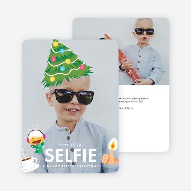 Selfie Time Holiday Cards - Black