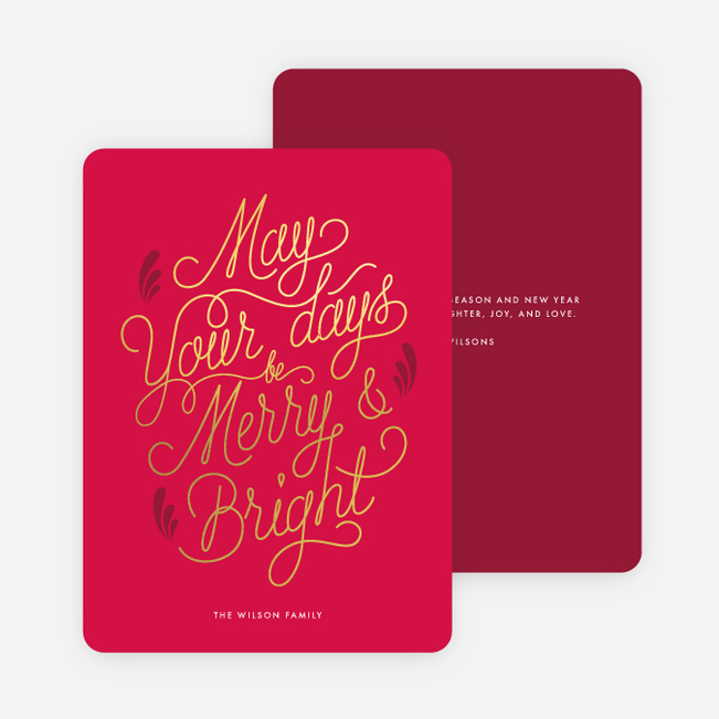 Extra Special Holiday Cards - Red