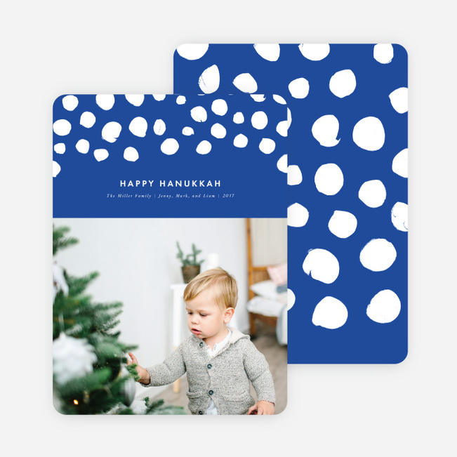 Diamond Duo Holiday Cards - Blue