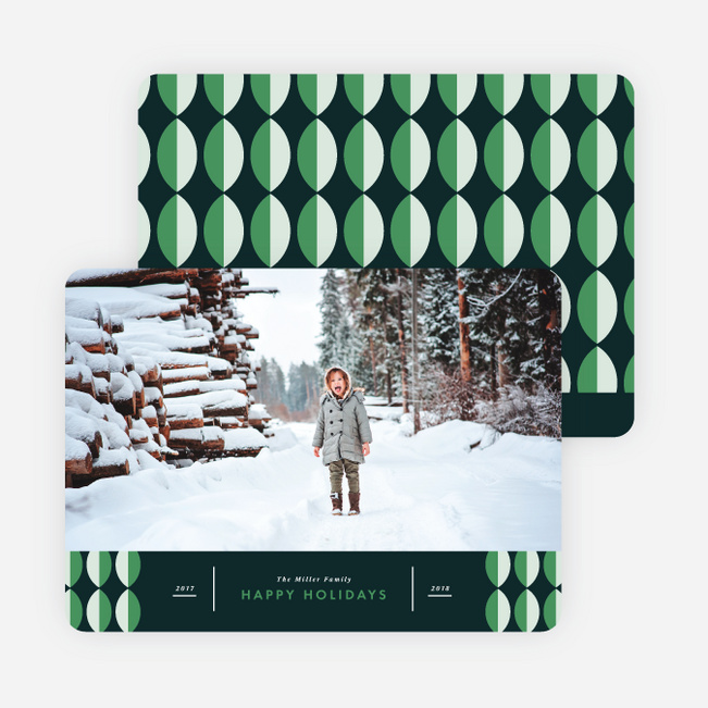 Winter Patterns Holiday Cards - Green